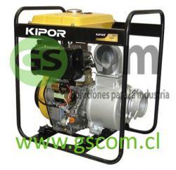 """MOTOBOMBA 4"""" PARTIDA ELÉCTRICA KIPOR KDP40EX 10HP"""
