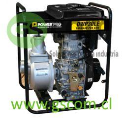 "MOTOBOMBA DIESEL PARTIDA ELÉCTRICA 3"" POWER PRO DWP30LE 6,7HP"