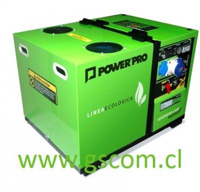 GENERADOR A GAS INSONORO POWER PRO DG5000D 5 KW