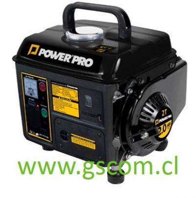 GENERADOR PORTATIL GASOLINA 2T POWER PRO GE1000 0.8 KW