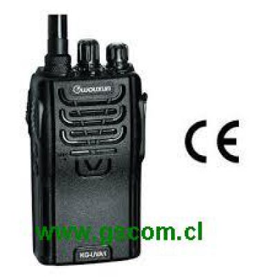Radio Transmisor Portátil Marca Wouxun Modelo KG-833 UHF 4w, 16 canales, Comercial, Profesional, IP55 Resistente al agua