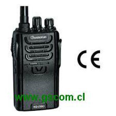 Radio Transmisor Portátil Marca Wouxun Modelo KG-833 VHF 5w, 16 canales, Comercial, Profesional, IP55 Resistente al agua