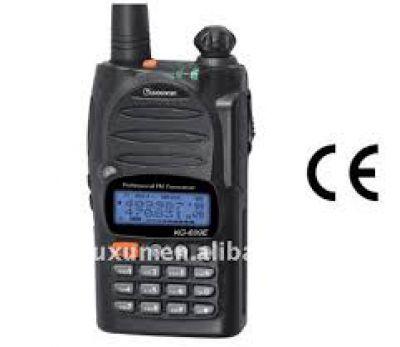 Radiotransisor portátil banda corrida, amateur, VHF 5w