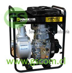 "MOTOBOMBA DIESEL PARTIDA ELÉCTRICA 4"" POWER PRO DWP40LE 10HP"
